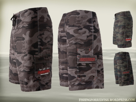 Camo Fishproduct shorts