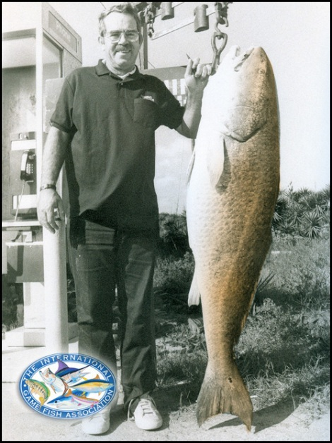 94 pound world record redfish